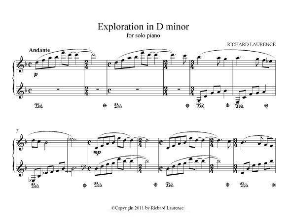 Exploration in D minor